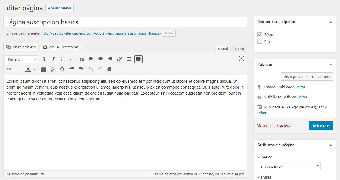 Cómo construir un sitio de membresía en WordPress: marcado de suscripción