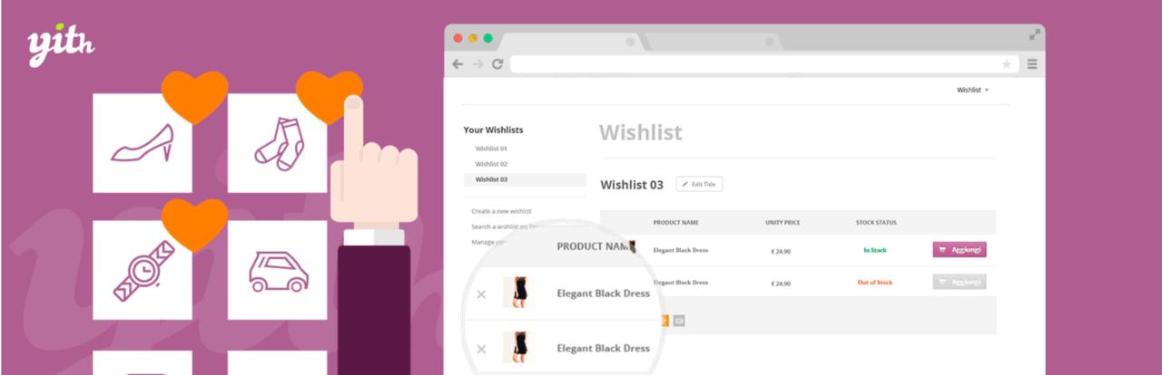 Extensiones de WooCommerce potentes para nuevas tiendas: YITH WooCommerce Wishlist
