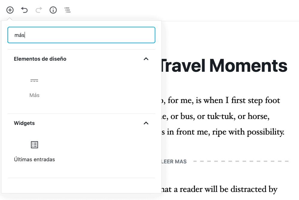 Agregar bloque Leer Más en WordPress