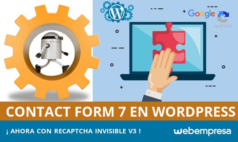 Captcha invisible en Contact Form 7 para WordPress