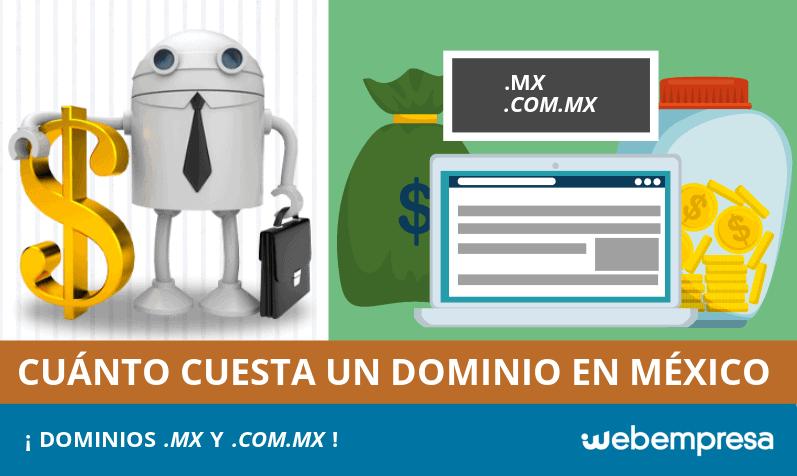 ¿Cuánto cuesta un dominio en México?
