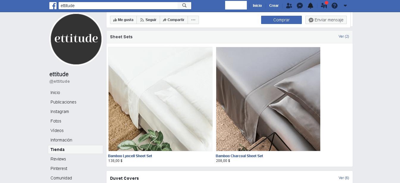 Ejemplo exitoso para aumentar las ventas de tu eCommerce: tienda en Facebook