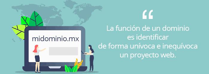 ¿Cuánto cuesta un dominio en México?: función de un dominio