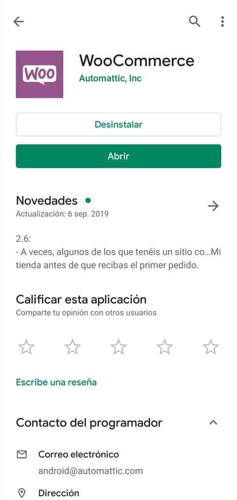 Cómo administrar WooCommerce desde tu móvil: Vista del prelogin de la App de WooCommerce