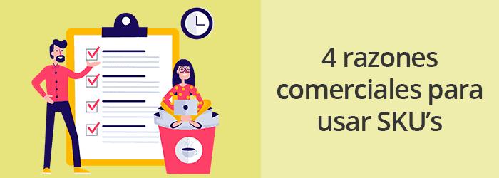 Cuatro razones comerciales para utilizar SKU's