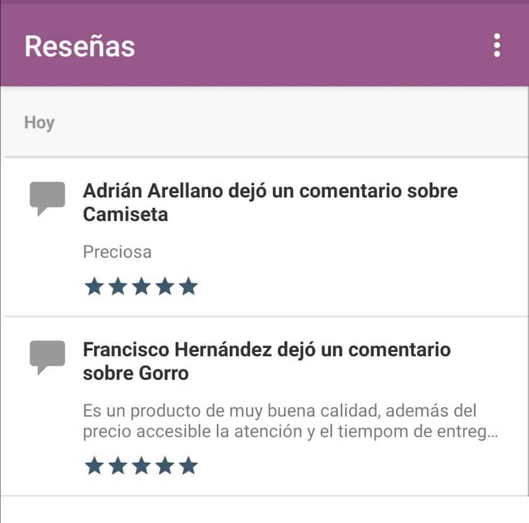 Cómo administrar WooCommerce desde tu móvil: Reseñas de clientes sobre productos