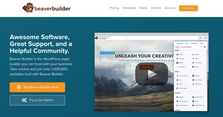 Page Builder Beaver Builder en WordPress