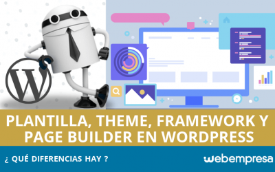Diferencia entre plantilla, theme, framework y page builder WordPress