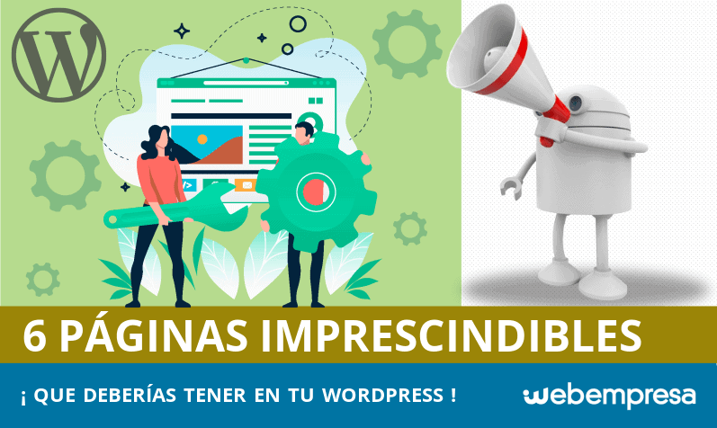Las 6 páginas imprescindibles en WordPress