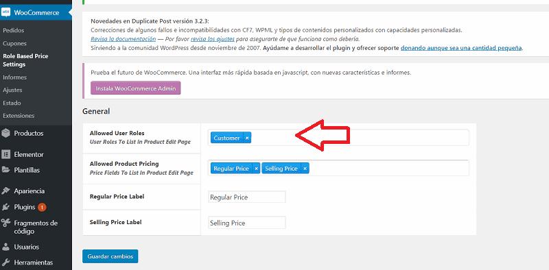 Nuevo rol creado de forma automática llamado customer