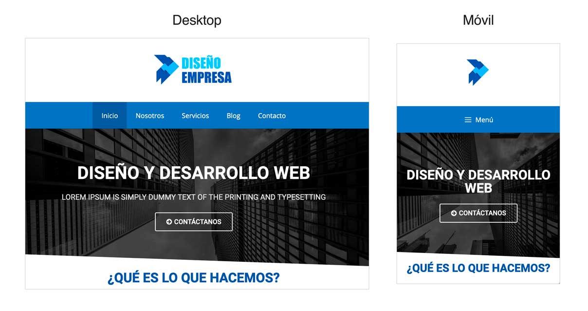 Cambiar el logo en la versión móvil de tu WordPress: resultado final