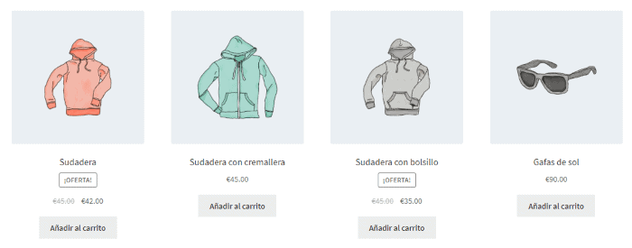 Visualización de productos en la web