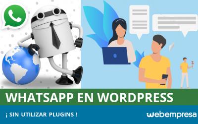 Agregar Whatsapp en WordPress sin usar plugins