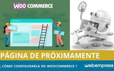 Configurar una página de Próximamente en WooCommerce