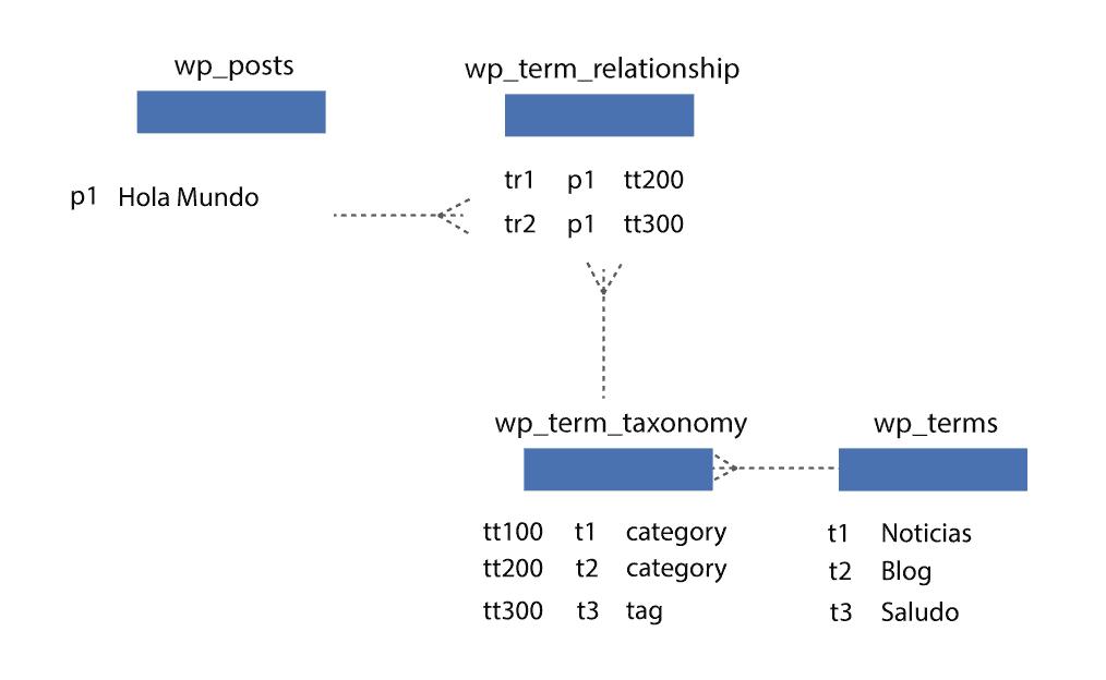 Ejemplo relacion contenido y taxonomías