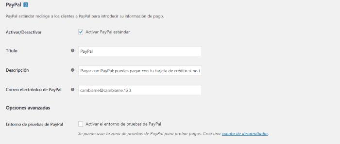 Guía de configuración de PayPal en WooCommerce