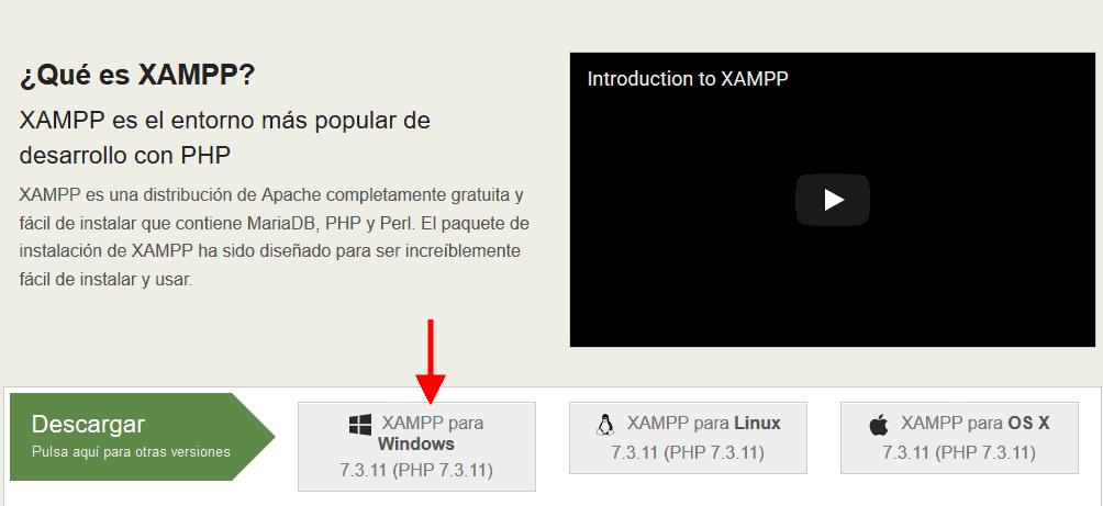 Servidor Xampp