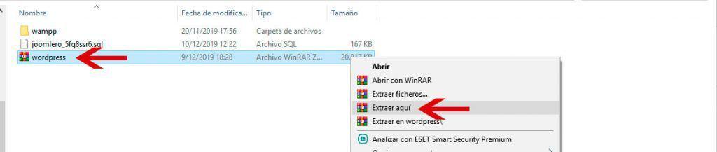 Descomprimir archivo ZIP