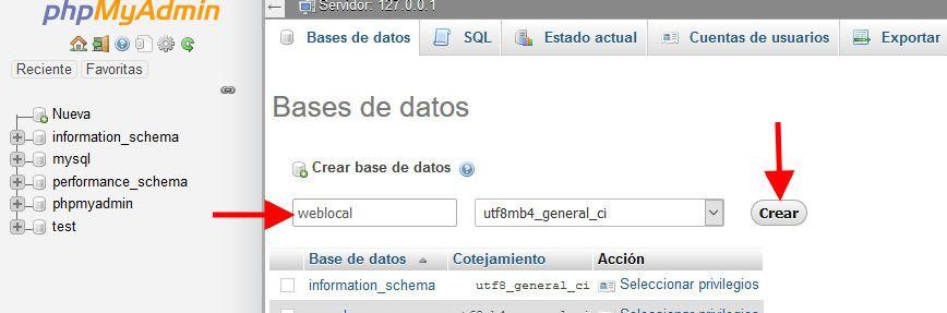 Usar el nombre weblocal