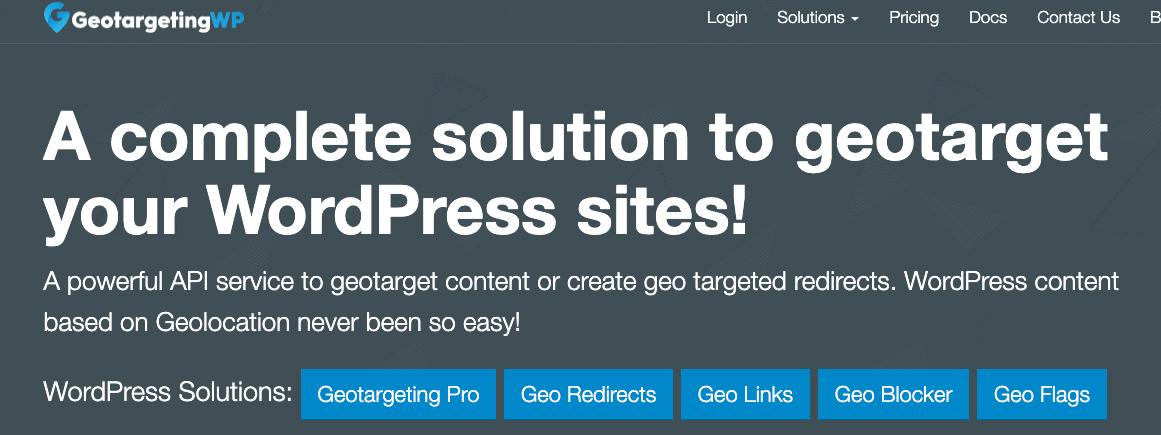 Plugin Geo Targeting WP