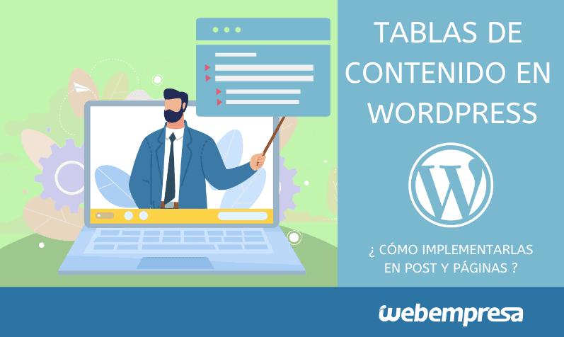 Tablas de contenidos en posts de WordPress