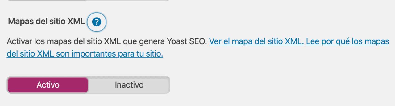Activar Sitemap
