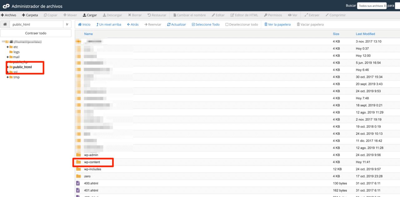 Instalación de WordPress en la carpeta public_html