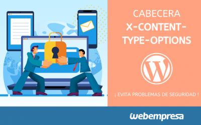 Cabecera X-Content-Type-Options, problemas de Seguridad