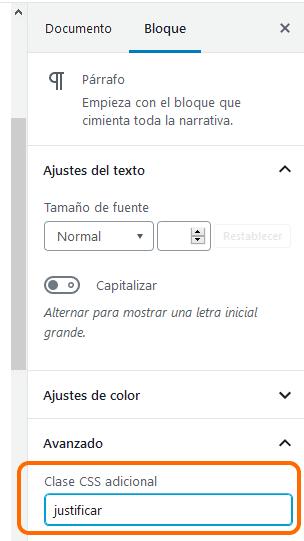 Bloque texto CSS