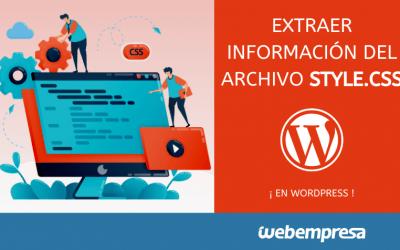 Extraer información del archivo style.css en WordPress