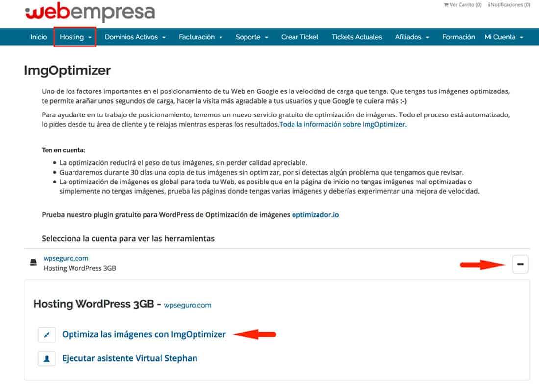 Área Cliente Webempresaa