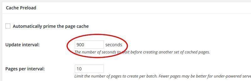 w3 total cache configurar page cache