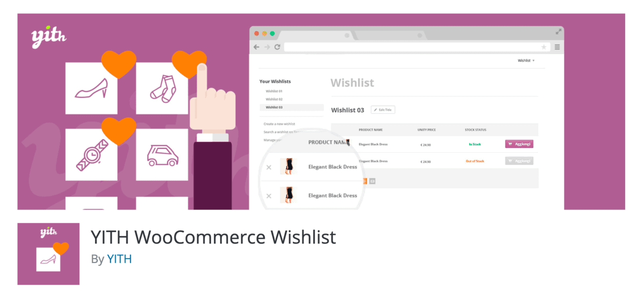 Plugin Yith WooCommerce Wishlist