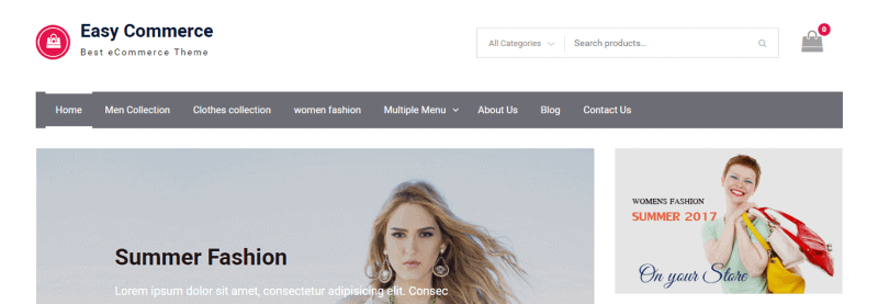 Plantilla WooCommerce Easy Commerce