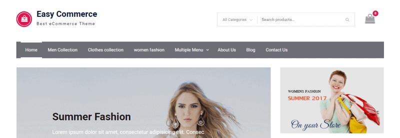 Plantilla WooCommerce Easy Commerce