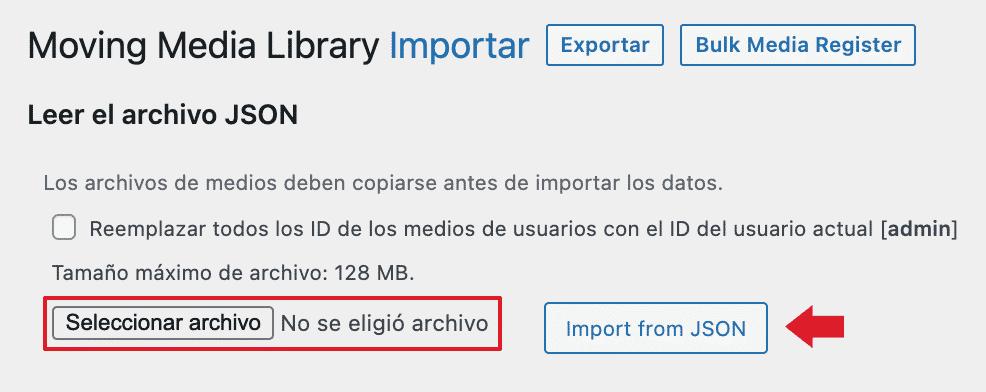 importar archivos json