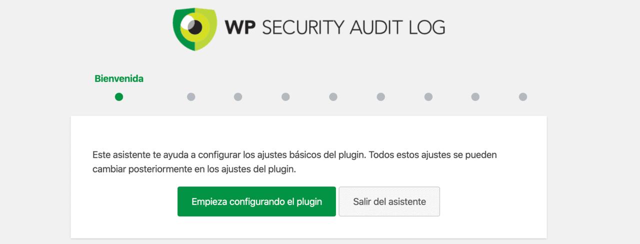 Ejecutar el asistente del plugin WP Security Audit Log