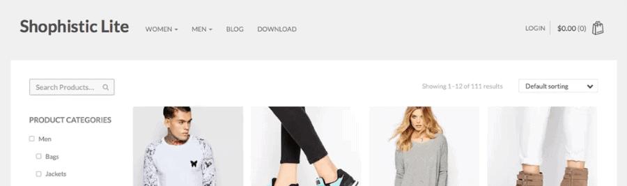 Plantilla WooCommerce Sophistic Lite