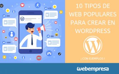 10 tipos de Web que puedes crear con WordPress