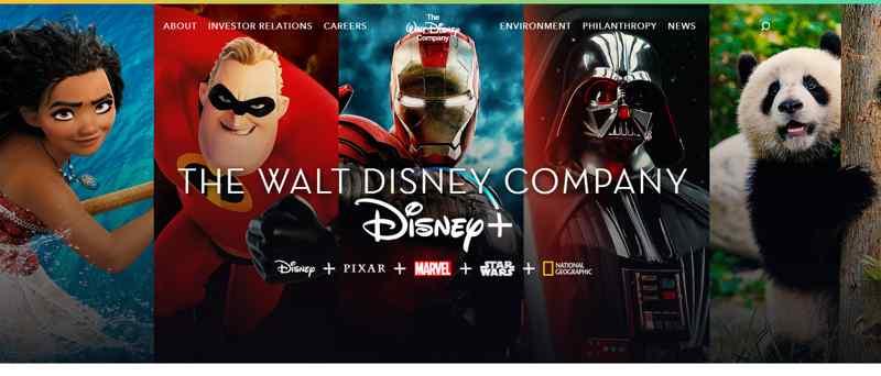 Web entretenimiento Walt Disney