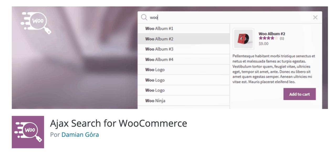 Plugin recomendado: Ajax Search for WooCommerce