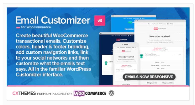 Plugin Email Customizer for WooCommece