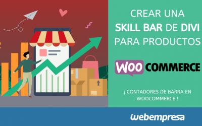 Crear una Skill Bar de Divi para productos de WooCommerce