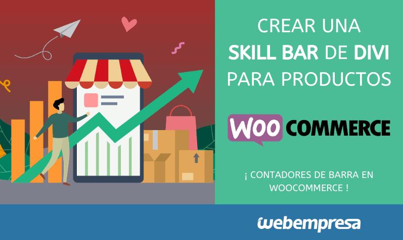 Crear una Skill Bar o contadores de barra de Divi para productos de WooCommerce