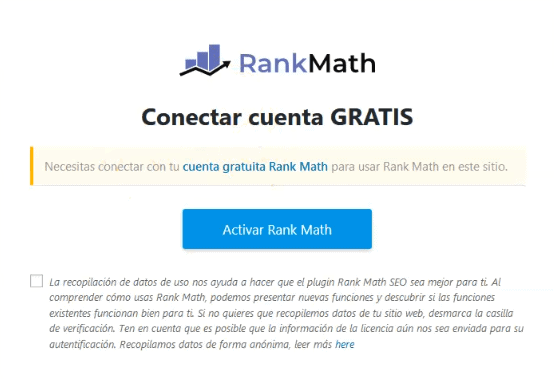 Activar Rank Math