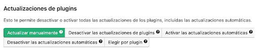 Actualizaciones de plugins WordPress