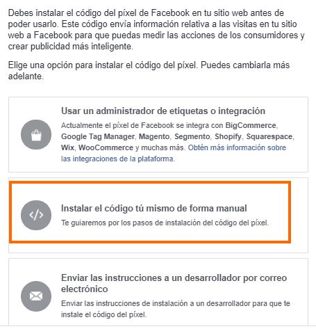 Código Pixel Facebook Ads