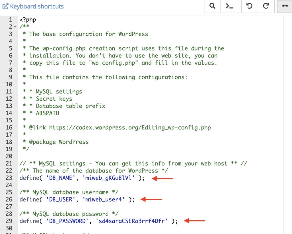 Conectar base de datos con archivo wp config