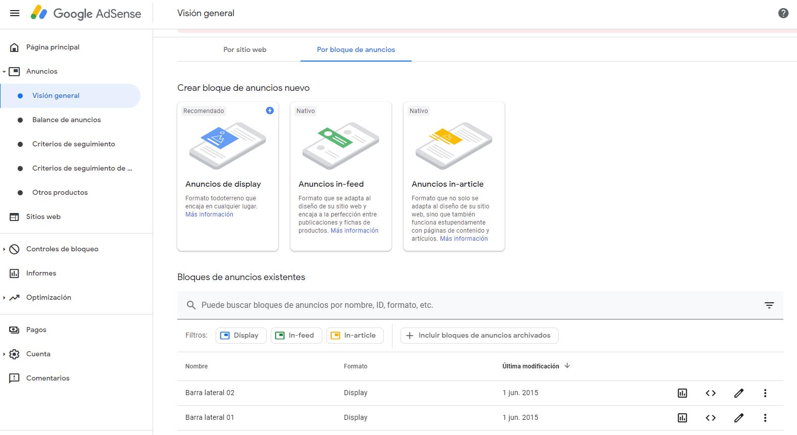 Insertar Google Adsense en WordPress. Insertar Google Adsense en WordPress. Crear anuncios en Google Adsense