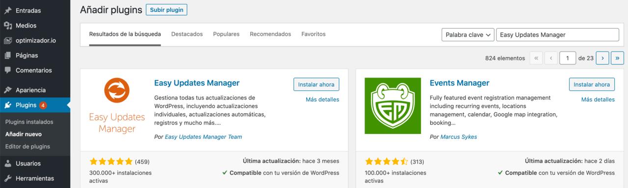 Plugin Actualización Automática Plugin WordPress